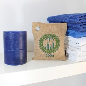 Amazy Bambus Lufterfrischer mit Aktivkohle - Vielfältig einsetzbarer Luftreiniger für Wohnzimmer, Schlafzimmer, Küche, WC, Auto etc. - Schadstofffrei und 100 % biologisch abbaubar (Braun) -